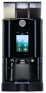 the amore touch coffee machine in black