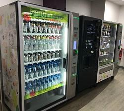 Vending machine with healthier vending options