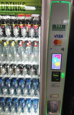 Vending machine with healthier vending options