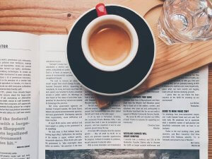 coffee for universities - coffee and newspaper