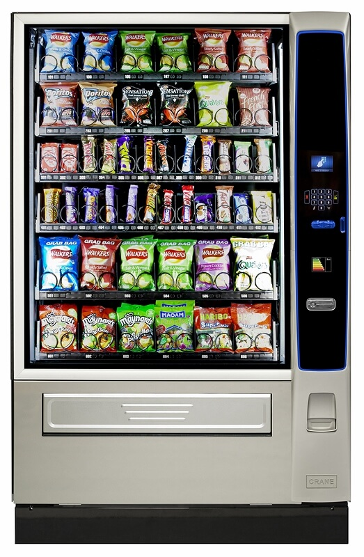 merchant media snack and can vending machine