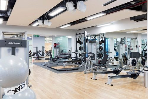 the best office design - on site gym