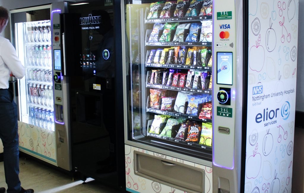 contactless payments on a vending machine