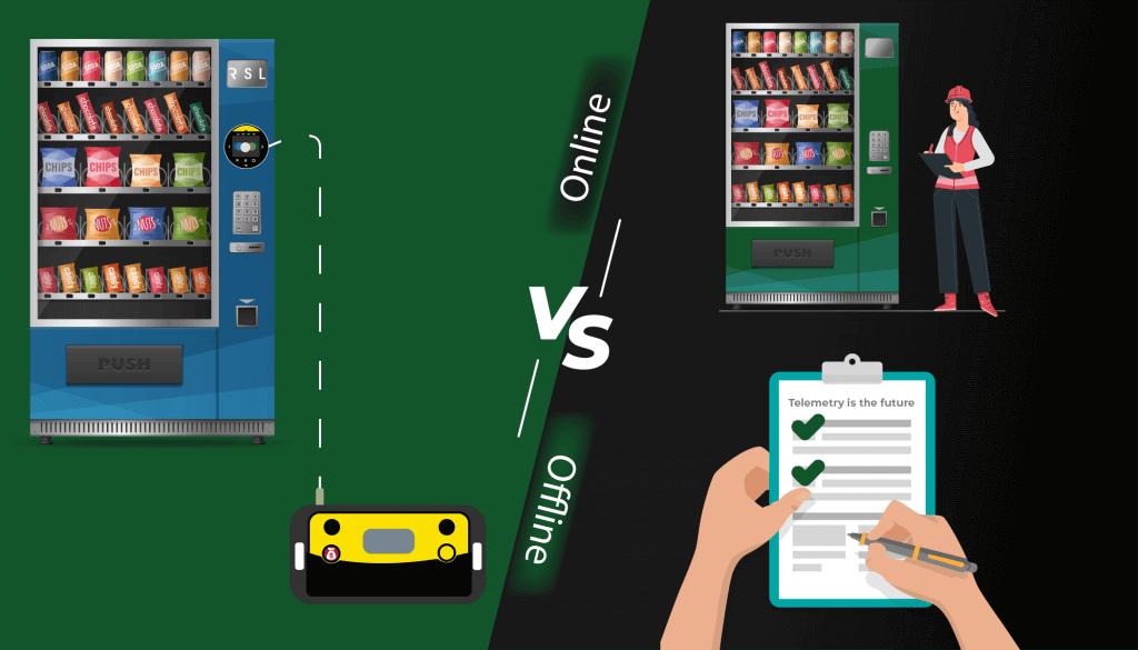 Online vs offline vending